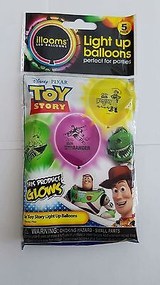 illooms Light Up LED Party Balloons Disney Toy Story 5 Pack
