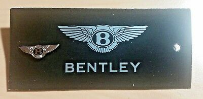 Bentley Pin schwarz emailliert 20x7mm ORIGINAL mit Folder