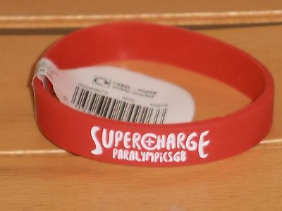 Paralympics GB Super Charge wrist band. Red. Brand New with Tag.