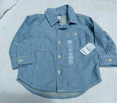 NEW NWT Infant baby kids boys clothing long sleeved shirt 12-18 months BABYGAP