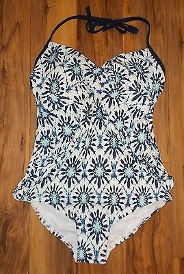 Women's Size Large OR XL Liz Lange Maternity 1-Piece Navy Voyage Swimsuit NWT