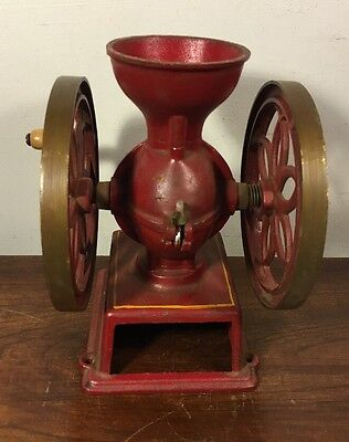 Vintage John Wright Cast Iron Coffee Grinder Wrightsville Pa
