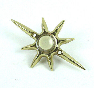 Vintage Door Bell Design Atomic Star Nuclear NUTONE PB-17LV Art Deco.