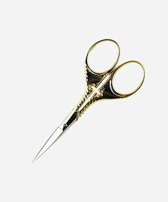 "Embroidery Scissors 3-1/2"" GERMAN CROSS Gold Plated"