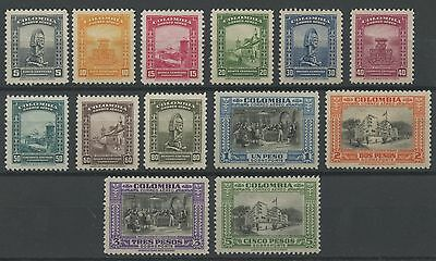 Colombia 1941 MLH Airmail Set | Scott C121-C133 | National Library