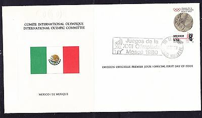 Mexico 1980 - Olympic Committee EMBOSSED First Day Cover