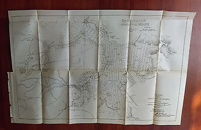 1900 Spanish Sketch Map Showing Puerto de la Habana Cuba Spanish American War