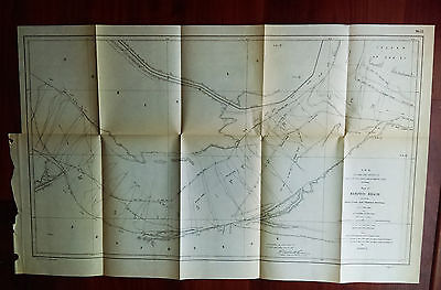 1905 Map of Memphis Reach Shoreline and Channel Sections TN Mississippi River