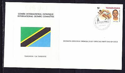 Tanzania 1980 - Olympic Committee EMBOSSED First Day Cover