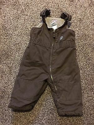 Baby Boys Size 12 Months Snowsuit Overalls Brown Berne