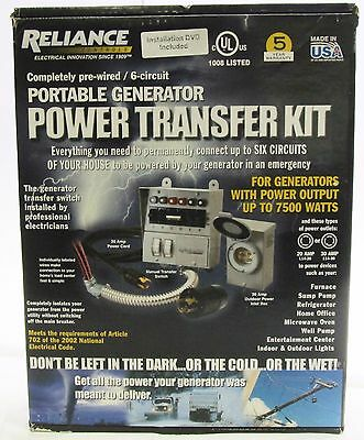 Reliance Controls Reliance 6 Circuit Transfer Switch 31406CRK