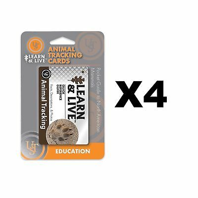 Ultimate Survival Technologies Learn & Live Animal Tracking Cards Guide (4-Pack)