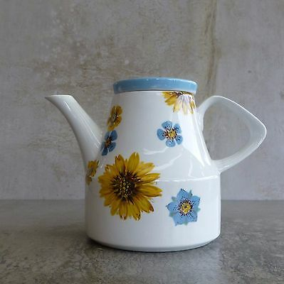 Mid Century Wood and Sons Alpine White Ironstone Teapot 600mls England 1960s MCM