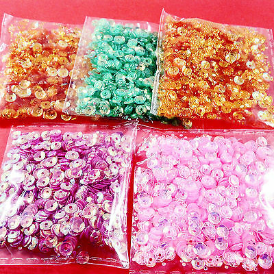 5,000pcs MIXED AB SEQUINS 4mm (2) - embellishments craft cardmaking wholesale