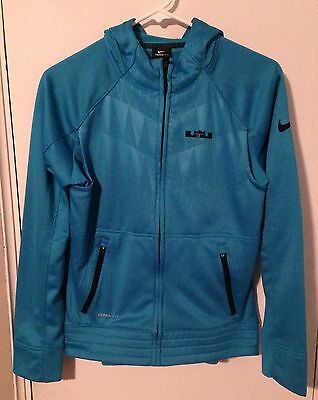 LaBron James Nike Therma-Fit Youth Zip-Up Hyper Elite Hooded  S.Shirt Teal - XL