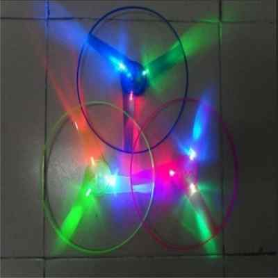 1pcs Multi Color LED Light up Flashing Flying UFO Saucer Helicopter Child Toy 0W