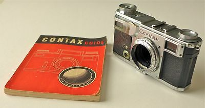 Zeiss Ikon Contax IIa Body for Parts Rangefinder Camera with Guide W.D. Emanuel