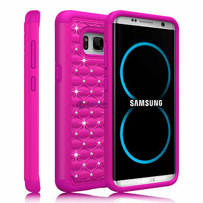 Hybrid Rugged Rubber Hard Armor Phone Case Cover for Samsung Galaxy S8 Plus/Edge