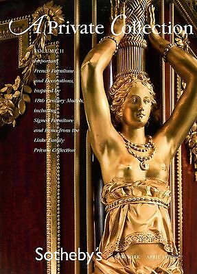 Collection French Furniture Decorative Art 18th century Sothebys Auction Catalog