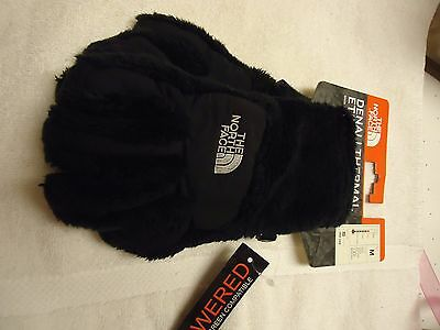 GIRLS NORTH FACE DENALI THERMAL ETIP GLOVES BLACK NWT SIZE M Texting Glove