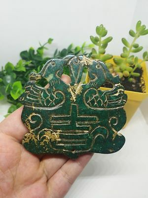 China's unique Hand carving old jade  Amulet Pendant @102