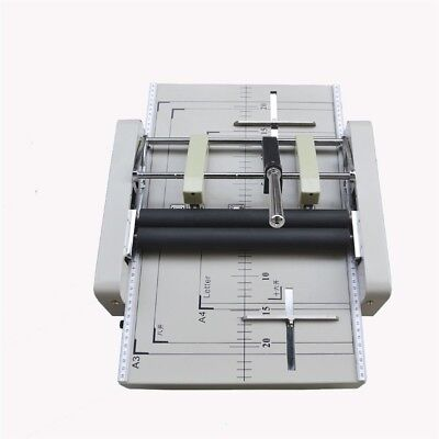 Manual Booklet Stapler New Booklet Binding / Folding Machine A3 Paper A
