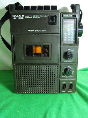 Sony Cf-170S Am Fm Sw Shortwave Radio Cassette Variable Monitor Vtg 1970S Japan