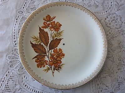 WOOD & SONS RALPH ENOCH BURSLEM 'WAYSIDE' CAKE PLATE WITH HOLE FOR STAND 1940s