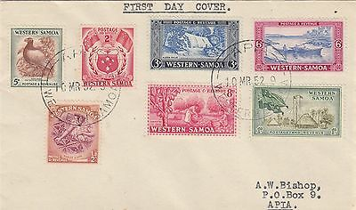 WESTERN SAMOA First Day Cover 10 March 1952 Addressed to Apia as shown