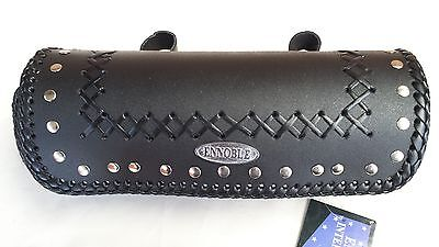 Motorcycle Tool Roll Bag New, 100% Cowhide Leather Ra2634 Black Studs
