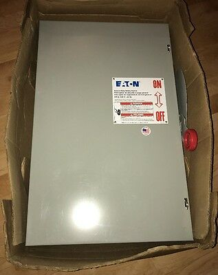 Eaton DG224NGK 200 Amp 240v Fusible Indoor Disconnect Safety Switch Single Phase