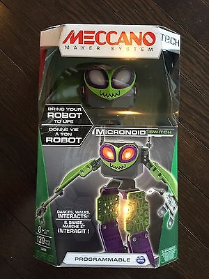 Meccano Tech Maker System Micronoid Switch Programmable Robot