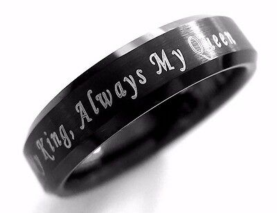 Black Tungsten Wedding Band Tungsten Ring Men Women Tungsten Ring Promise Ring
