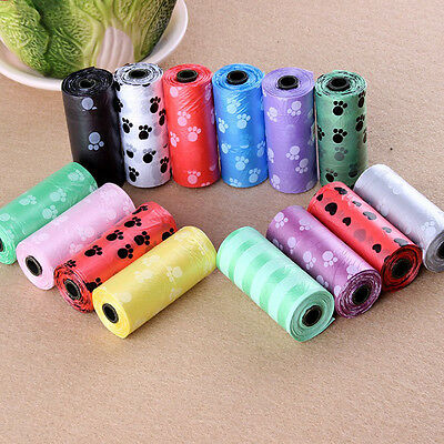 10Roll150pcs Degradable Pet Waste Poop Bags Dog Cat Clean Up Refill Garbage bag