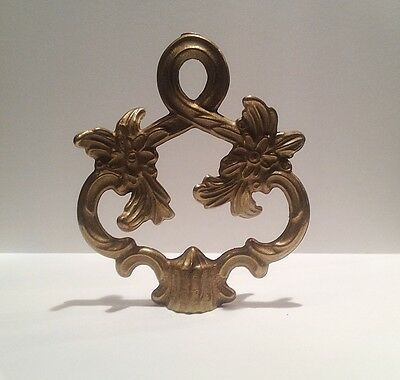Lamp Finial-LARGE solid cast brass Fancy loop lamp finial w/dual threads