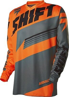 NEW Shift Youth Mx Assault Orange Grey Dirt Bike BMX Kids Motocross Jersey SALE