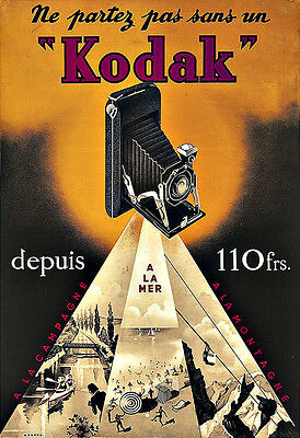 Art Ad Kodak Camera Cameras French  Deco Poster Print