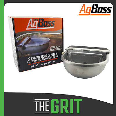 AgBoss Stainless Steel Water Bowl Dog Pet Bowls Float Self Filling 2.5L