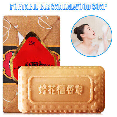Hot Mini Soap Bee Flower Sandalwood Acne Soap Bath Removing Mites Toilet Soaps