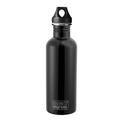 Stainless Steel Drink Bottle (Black) - 1L