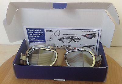 Halcyon Mark 49 Goggles Driving Leather Stitching -NEW!