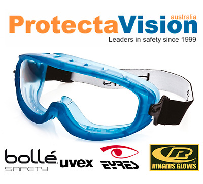 Bolle Atom Platinum Clear Lens Top Vent Closed Safety Goggles