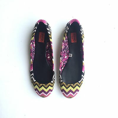 Missoni for Target Ballet Flats Women's Size 7 New w/out Box Leather Sole Woven