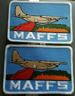 Lot of 2 Rare Vintage New Unused MAFFS Firefighting Patches