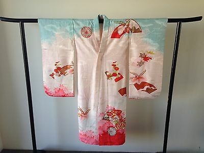 Japanese Decorative Antique Vintage Kimono Hand Made One a Kind Costume