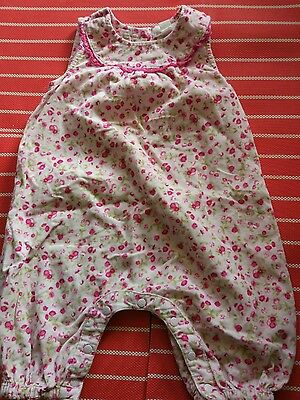 Gorgeous Pumpkin patch baby girl floral romper, size 0, 6-12 months Euc