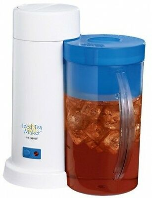 Mr. Coffee 2-Quart Iced Tea Maker for Loose or Bagged Tea Blue