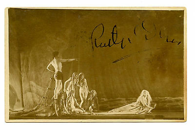 RUTH ST DENIS Hand Signed C1910 Photo *** Choreographer for Intolerance in 1916