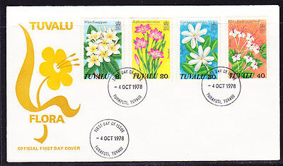 Tuvalu 1978 Flowers  First Day  Cover - Unaddressed