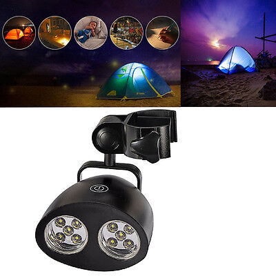 10LED Super Bright Outdoor BBQ Grill Light Tent Lamp  Barbecue Handle Mount Clip